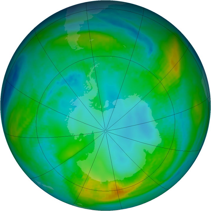 Antarctic ozone map for 09 May 1981